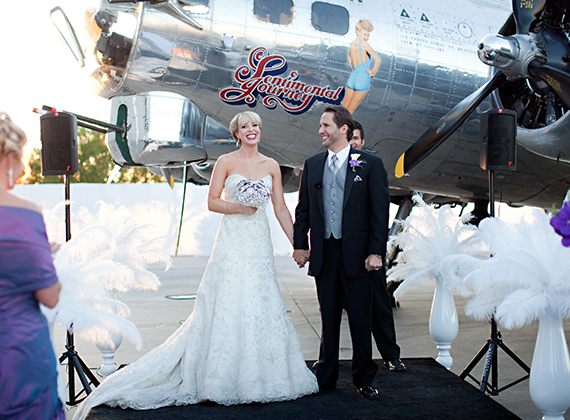 Annee + Scott's Airplane Themed Wedding